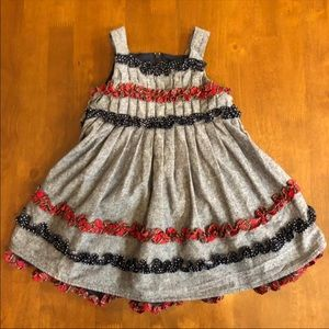 Other - Ruffled holiday winter preppy dress 12 months
